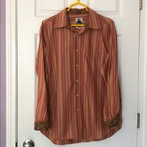 Robert Graham flip cuff button up dress shirt
